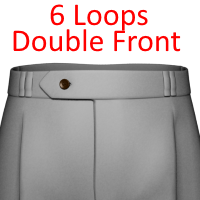 20- 6 Loops With Double Belt Loop Front